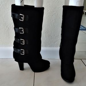 REPORT Munroe Suede Mid-Calf Buckle Boot 6.5 NEW!